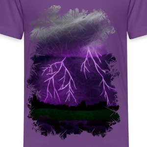 Purple Lightning Scene - Toddler Premium T-Shirt