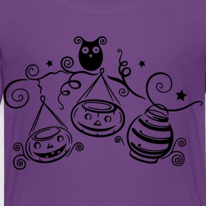 Halloween owl with pumpkins - Toddler Premium T-Shirt