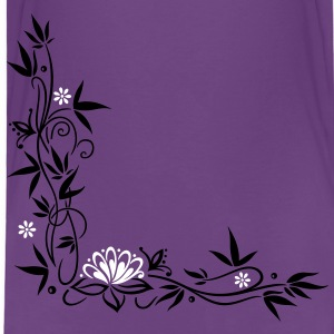 Bamboo with small blossoms and lotus flower. - Toddler Premium T-Shirt