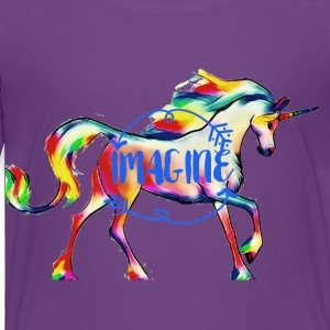 imagine Unicorn - Toddler Premium T-Shirt