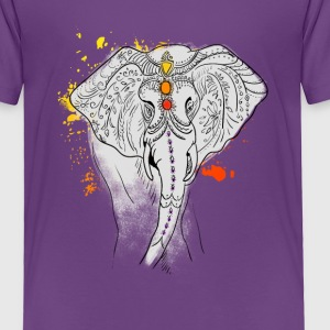 elephat yoga mandala india splash jewels meditatio - Toddler Premium T-Shirt