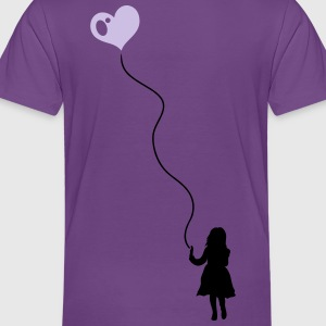 Child with heart balloon. - Toddler Premium T-Shirt