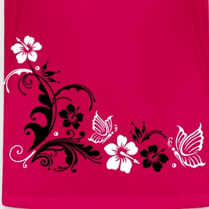 Hibiscus with butterflies - Toddler Premium T-Shirt