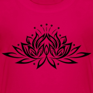 Large lotus flower, yoga, wellness. - Toddler Premium T-Shirt
