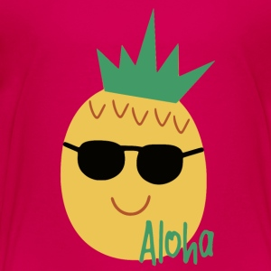 aloha pineapple with sunglasses - Toddler Premium T-Shirt