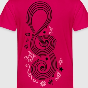 Big Clef with music notes - Toddler Premium T-Shirt