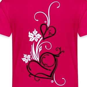 Two hearts with flowers - Toddler Premium T-Shirt