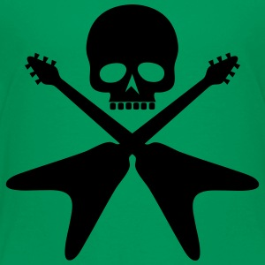 skull with crossed guitars - Toddler Premium T-Shirt