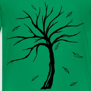 Small tree with falling autumn leaves. - Toddler Premium T-Shirt