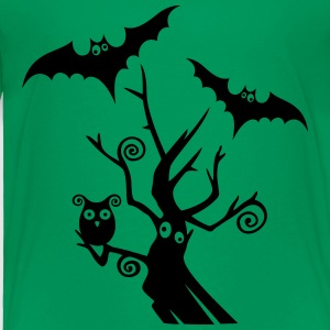 Halloween tree with bats and owl. - Toddler Premium T-Shirt