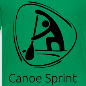 Canoe_sprint_black - Toddler Premium T-Shirt