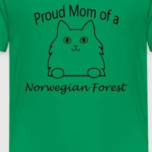 Proud Mom of a Norwegian Forest Cat - Toddler Premium T-Shirt