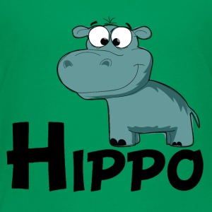 Cartoon Hippo - Toddler Premium T-Shirt