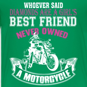 Motorcycles Are A Girls Best Friend T Shirt - Toddler Premium T-Shirt