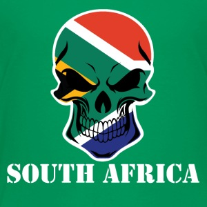 South African Flag Skull South Africa - Toddler Premium T-Shirt