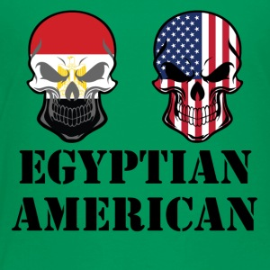 Egyptian American Flag Skulls - Toddler Premium T-Shirt