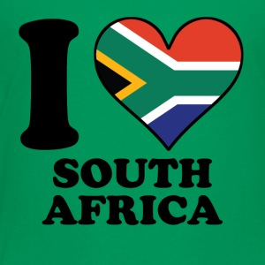 I Love South Africa South African Flag Heart - Toddler Premium T-Shirt
