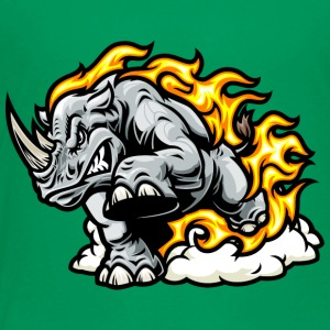 rhinoceros_in_fire - Toddler Premium T-Shirt