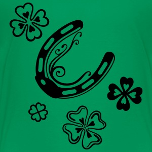 Horseshoes with clover leaves - Toddler Premium T-Shirt