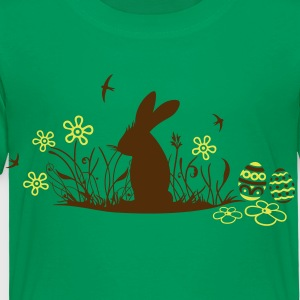 Easter bunny with Easter Eggs and flowers - Toddler Premium T-Shirt