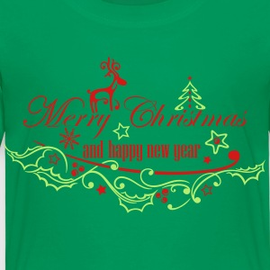 Merry Christmas with reindeer - Toddler Premium T-Shirt