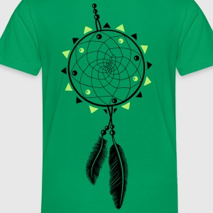 Dreamcatcher with sun and two feathers - Toddler Premium T-Shirt