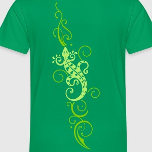 Lizard with Tribal, Tattoo - Toddler Premium T-Shirt