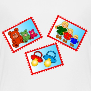 stamps with toys - Kids' Premium T-Shirt