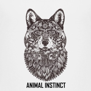 Animal Instinct - Black Wolf T-shirts Clothing - Kids' Premium T-Shirt