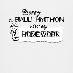 Sorry A Ball Python Ate My Homework Tee Shirt - Kids' Premium T-Shirt