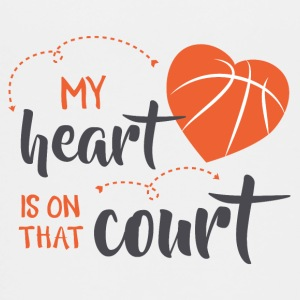 my heart is on that court - Kids' Premium T-Shirt