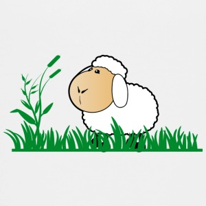 Funny Sheep in green gras - Kids' Premium T-Shirt