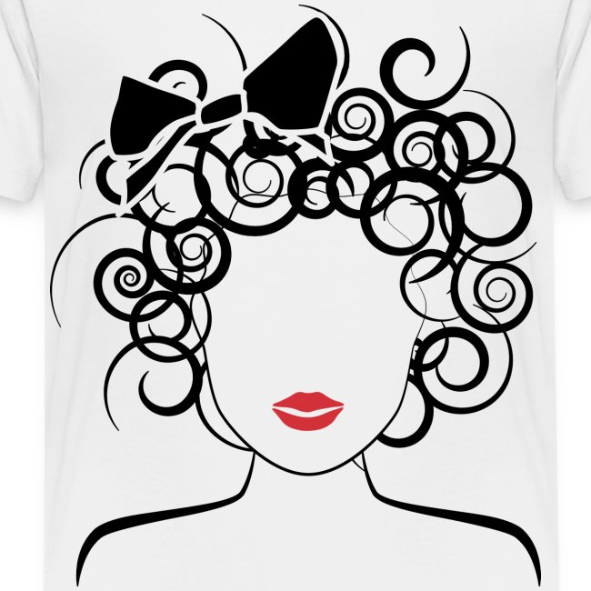 Global Couture logo_curly girl Women's T-Shirts