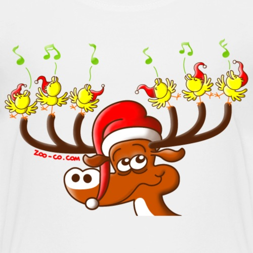 Birds' and Deer's Christmas Concert - Kids' Premium T-Shirt