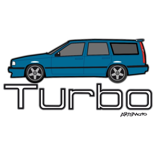 Swedish T5 Turbo Blue Estate Station Wagon - Kids' Premium T-Shirt