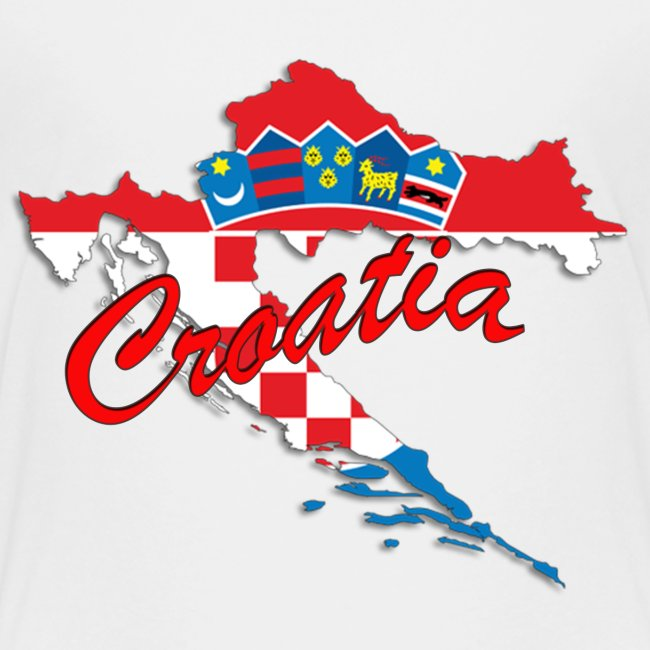 Croatia Football Team Colours T-Shirt Treasure Des