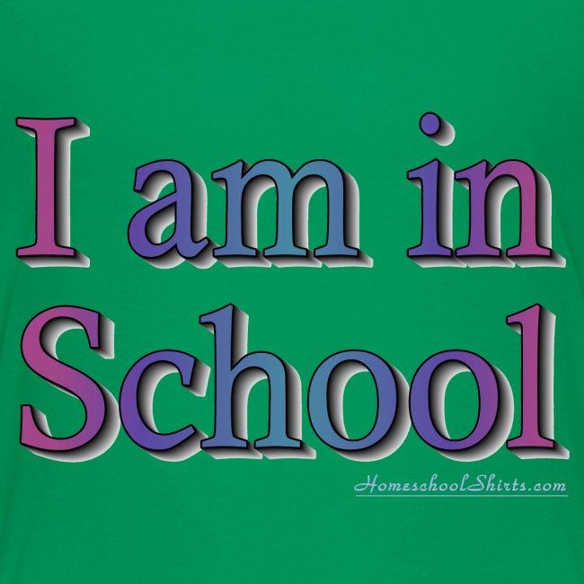 I Am In School Purple
