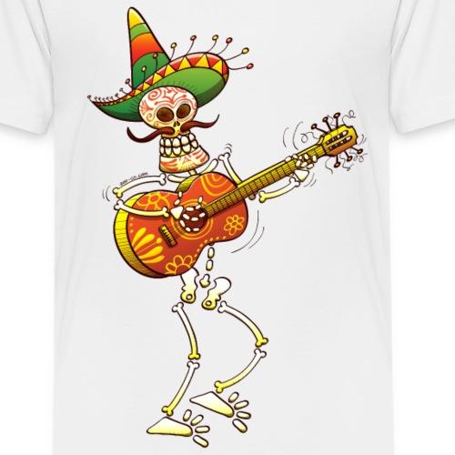 Mexican Skeleton Playing Guitar - Kids' Premium T-Shirt