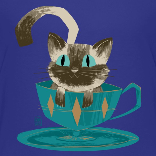 Cat in a Teacup by Kim B