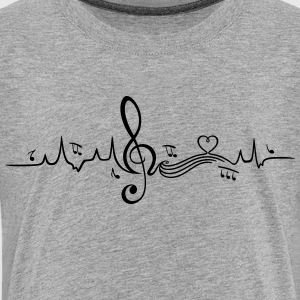 Heartbeat, love for music - Kids' Premium T-Shirt