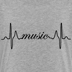 Music ECG heartbeat - Kids' Premium T-Shirt