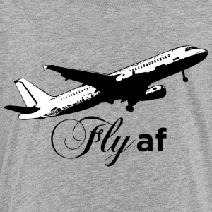 Fly af - Airplane Design (Black) - Kids' Premium T-Shirt