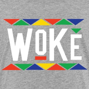 Woke - Tribal Design (White Letters) - Kids' Premium T-Shirt
