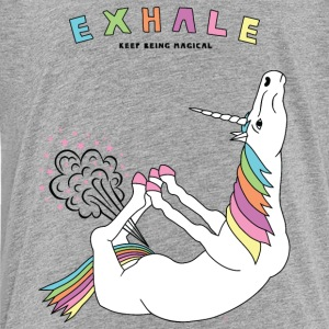 Bow Pose Unicorn Exhale Outline - Kids' Premium T-Shirt