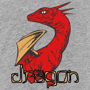 dragon_looking_back_color - Kids' Premium T-Shirt