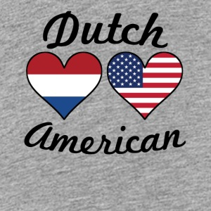 Dutch American Flag Hearts - Kids' Premium T-Shirt