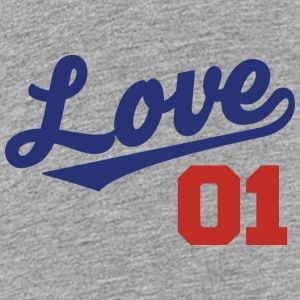 Love 01 - Cursive Team Design (Blue/Red Letters) - Kids' Premium T-Shirt