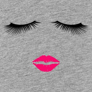 Lipstick and Eyelashes - Kids' Premium T-Shirt