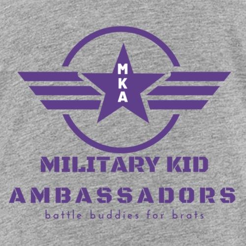 Military Kid Ambassador Purple Logo