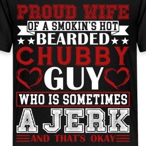 PROUD WIFE OF BEARDED CHUBBY GUY SHIRT - Kids' Premium T-Shirt